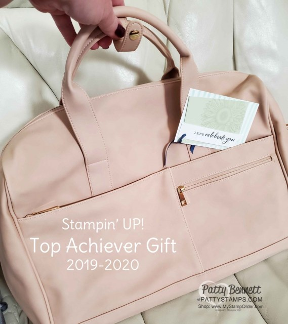 Leather overnight bag for Stampin' UP! top achievers 2019-2020 www.PattyStamps.com Patty Bennett Top Achiever.