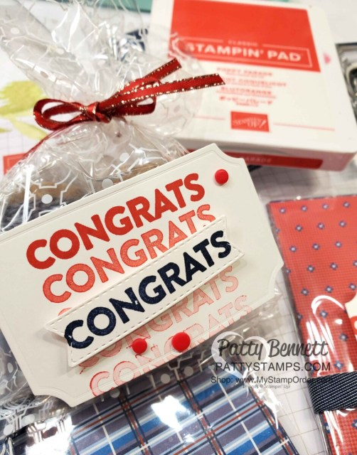 Congrats tag featuring Stampin' Up! You are Amazing stamp set! www.PattyStamps.com