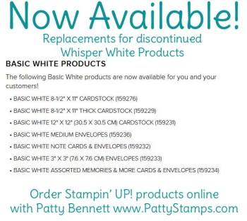 New Basic White Cardstock Products Available
