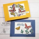 2 card ideas featuring Stampin