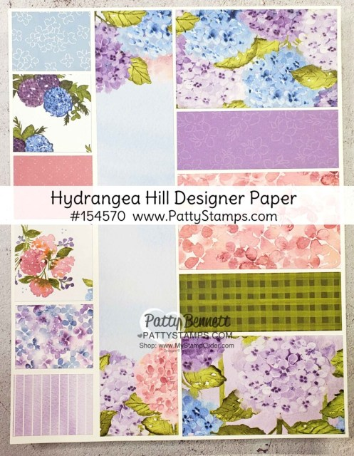 Hydrangea Hill designer paper chart #154570 Stampin' UP! www.PattyStamps.com