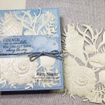 Sand & Sea Pearlescent paper seashells card featuring Stampin
