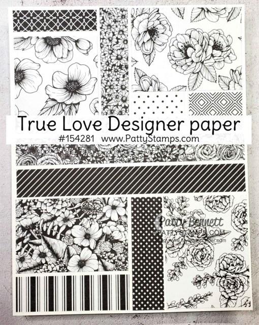 Stampin' Up! True Love designer paper #154281 www.PattyStamps.com