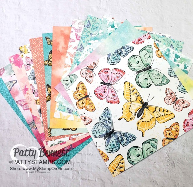 Butterfly Bijou 6x6 Paper Stack from the Butterfly Brilliance Collection available while supplies last from Stampin' Up! #156824 www.PattyStampsCom