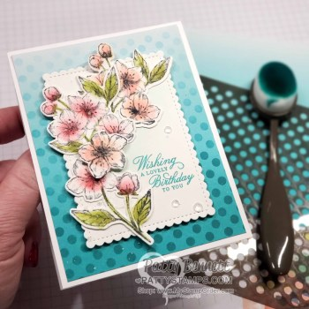Forever Blossoms Note Cards with Ombre background