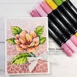 Good Morning Magnolia stamp colored with Stampin