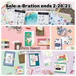 Stampin Up! Sale-a-Bration Jan-Feb 2021 ends Feb 28! Free papercrafting gifts with your online order. www.PattyStamps.com