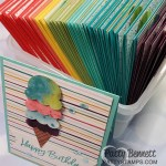 A rainbow of Birthday Cards featuring Ice Cream Corner Suite from Stampin