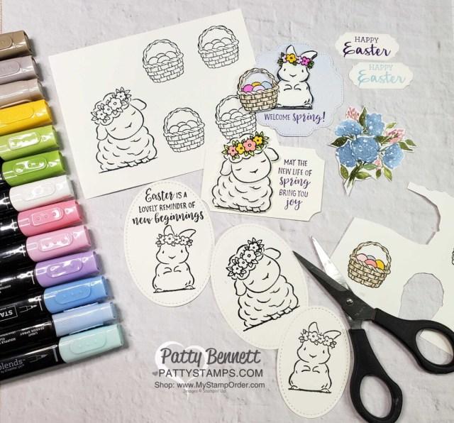 Coloring Springtime Joy stamp set images with Stampin' Blends markers