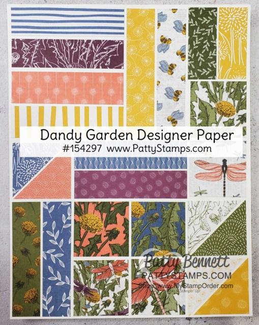 Dandy Garden Designer paper #154297 shop online Stampin' Up supplies: www.pattystamps.com