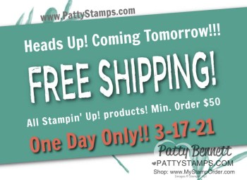Stampin' UP! Free Shipping Today Only