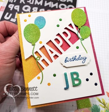 Personalized Playful Alphabet birthday card