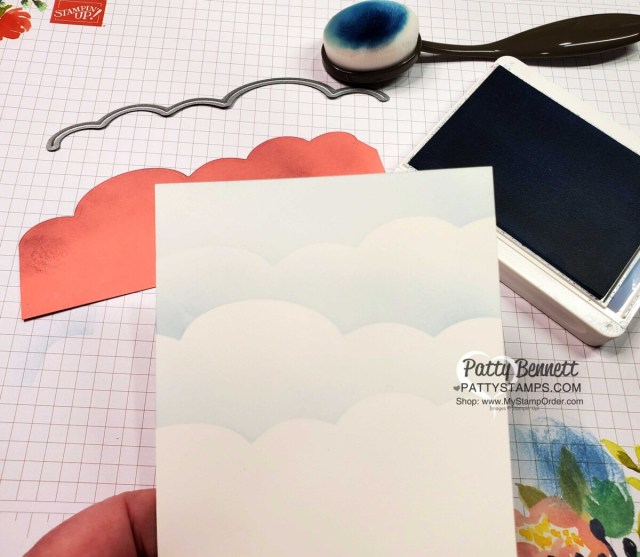 Make your own cloud stencil with the Happy Dies from the So Much Happy bundle! www.pattyStamps.com