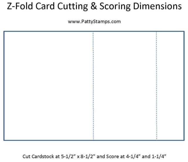 Z fold card dimensions instructions by Patty Bennett