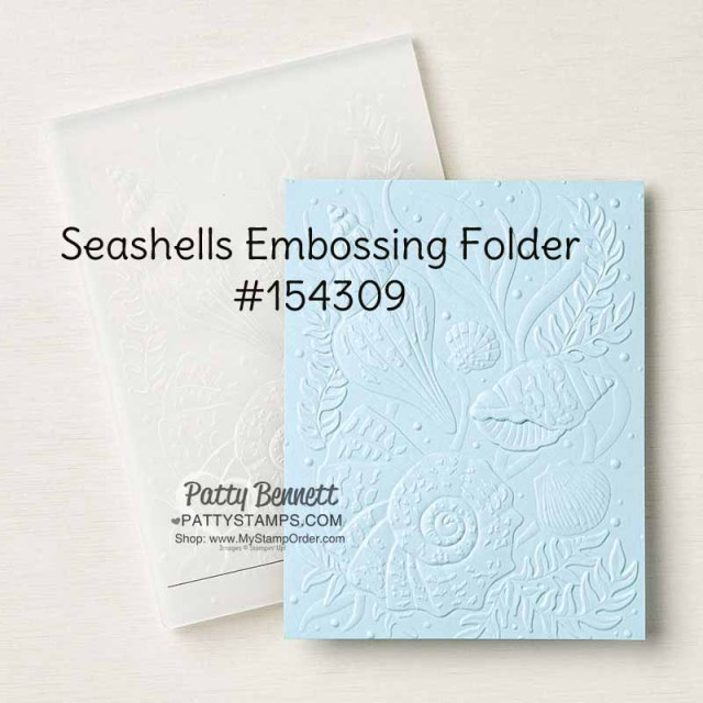 Seashells embossing folder Stampin Up! #154309  www,PattyStamps.com