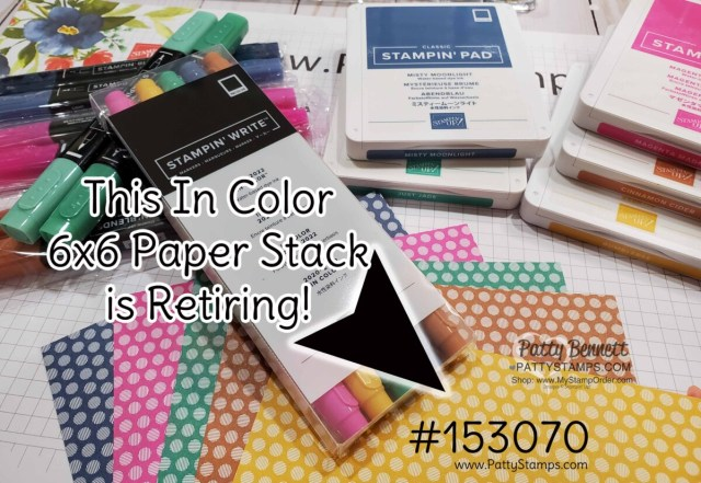 2020-2022 In Color 6x6 paper stack featuring polka dot patterned paper by Stampin Up! #153070