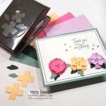 Card idea featuring Flowers & Leaves punch and 2021-2023 Stampin