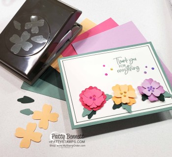 In Color Flowers and Leaves Punch Card Idea