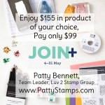 Stampin Up! Starter Kit new demonstrator special May 4-31, 2021. Enjoy $155 in product for only $99 and enjoy free shipping, too! www.PattyStamps.com