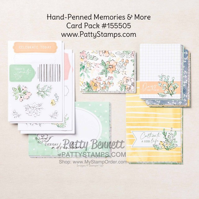 Hand-Penned Memories & More Card pack #155505 www.PattyStamps.com