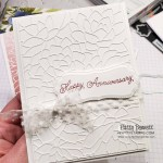 White on White Simply Succulent Anniversary Card Idea featuring Stampin Up! dies and stamps. www.PattyStamps.com