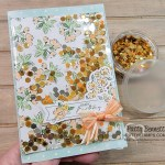 Faux Shaker card featuring Hand-Penned Memories & More cards with Sequins for Everything filler. www.PattyStamps.com
