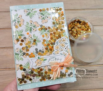 Sequins for Everything Faux Shaker Card Ideas