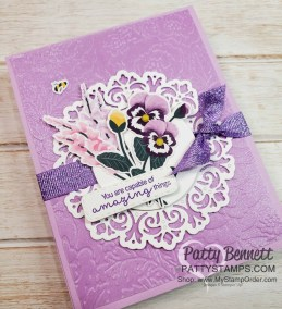 Card Ideas for the Pansy Petals Designer Paper