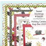 Sweet Stockings Suite Designer Paper, Christmas Card Making and crafting supplies from Stampin