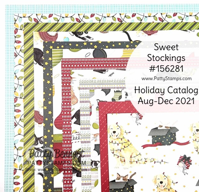 Sweet Stockings Suite Designer Paper, Christmas Card Making and crafting supplies from Stampin' Up!