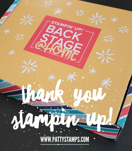 Stampin' UP! Backstage at home box Leadership 2021 event. www.PattyStamps.com