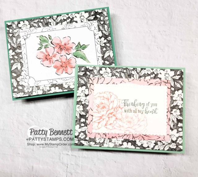 Beautifully Penned designer paper Sale-a-Bration gift from Stampin' Up! - Tri-fold pocket cards by Patty Bennett