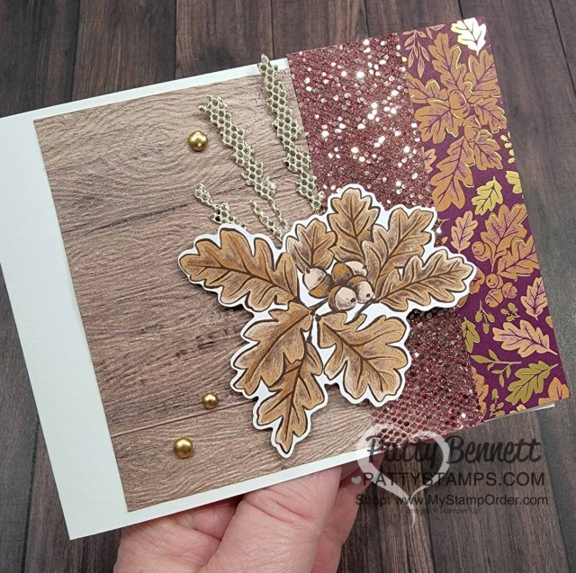 Fall Card Idea featuring Stampin' UP! Blackberry Beauty Ephemera pack and designer series paper! by Patty Bennett www.PattyStamps.com
