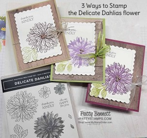 3 Ways to Stamp the Delicate Dahlias Flower