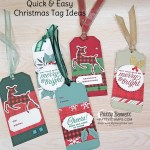 Quick & Easy Christmas gift tags featuring Stampin