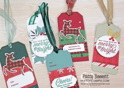 Quick & Easy Christmas Tags with Peaceful Prints Paper