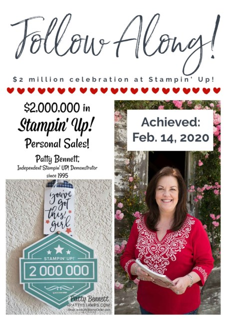 Patty Bennett $2 million personal sales celebration trip to Stampin' Up! home office, Riverton UT www.PattyStamps.com
