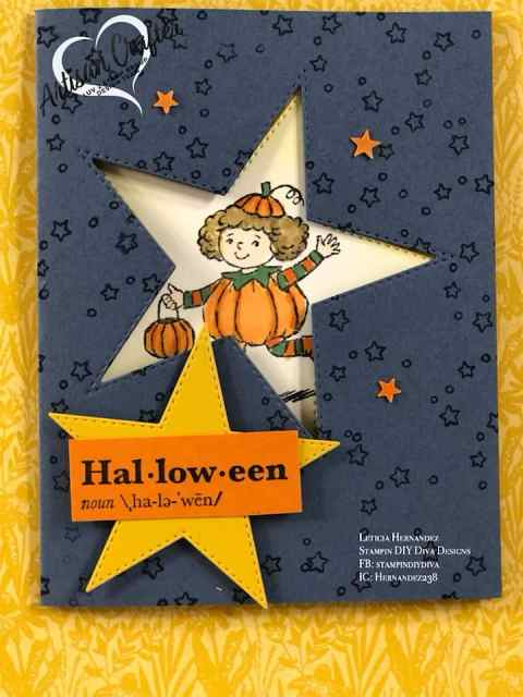 Luv 2 Stamp Group Artisan Crafter Design Team Leticia Hernandez, Seasons of Fun Halloween card, Stampin' UP!