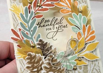 Fall Wreath Card Idea