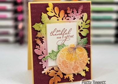 Beautiful Fall Card Idea with Blending Brushes