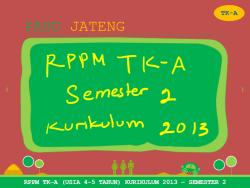 Contoh Rppm Tk A Semester 2 Kurikulum 2013 Full Paud Jateng