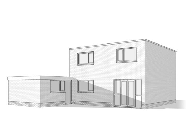 Bestaande woning voordat er is verbouwd, uitgebreid. Architect Enschede Markelo Hengelo Haaksbergen Almelo Oldenzaal Borne.