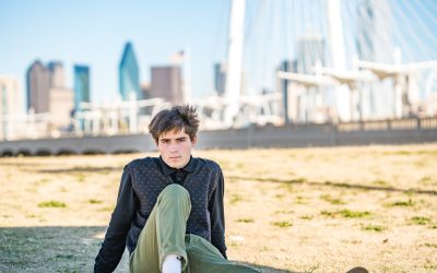 My First Senior Photo Session in Downtown Dallas