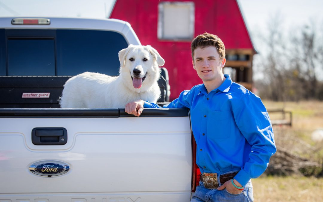 Conner, Dolly, an awesome pickup truck and a pig!