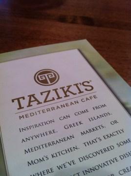Taziki's Menu