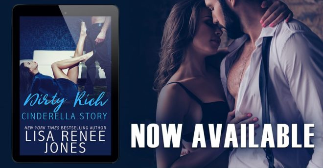 Cover Photo and Promo Banner for Dirty Rich Cinderella Story by Lisa Renee Jones