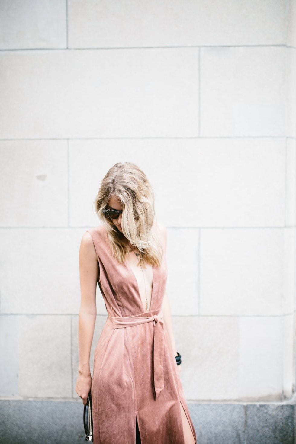 Hommage Suede Dress on PAULARALLIS.com