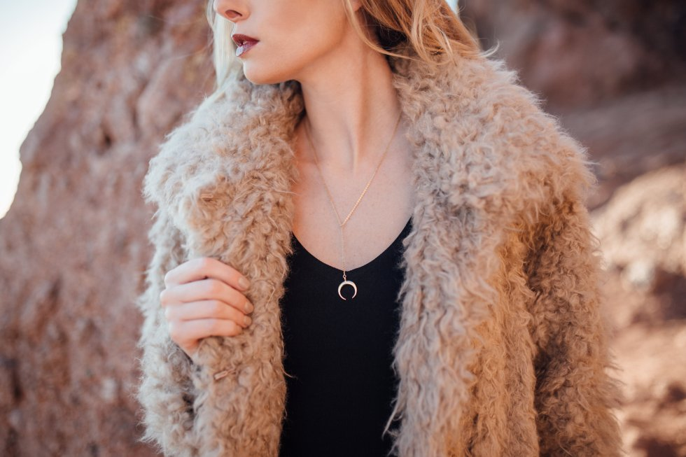 Rebecca Taylor Fur Jacket and Alice and Olivia Faith Midi Tank Dress on PaulaRallis.com