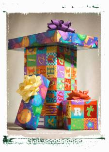 A stack of presents