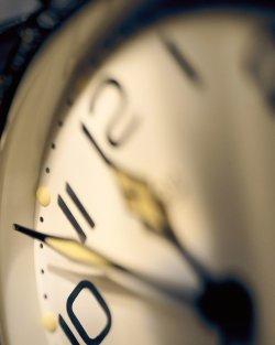 clock near midnight